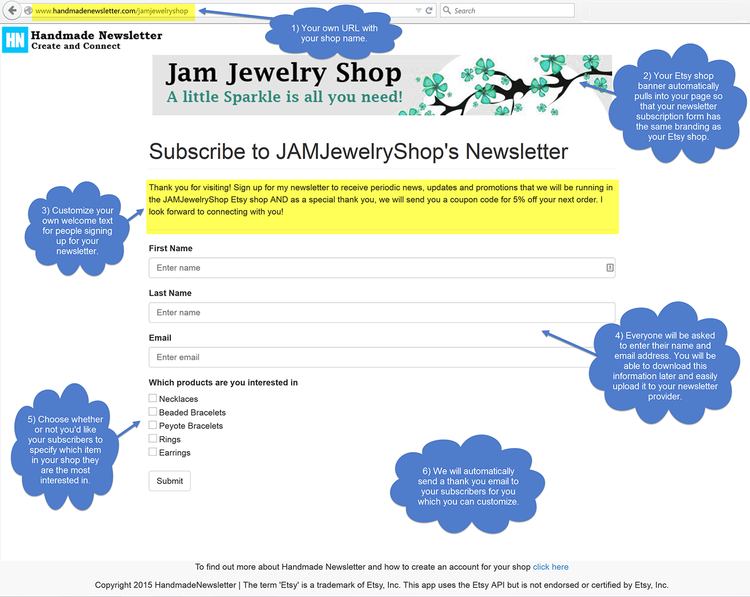 What You Get  Handmade Newsletter